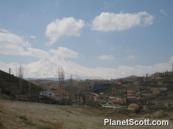 Cappadocia Ilhara Town - Hasan Dagi Mountain in Background