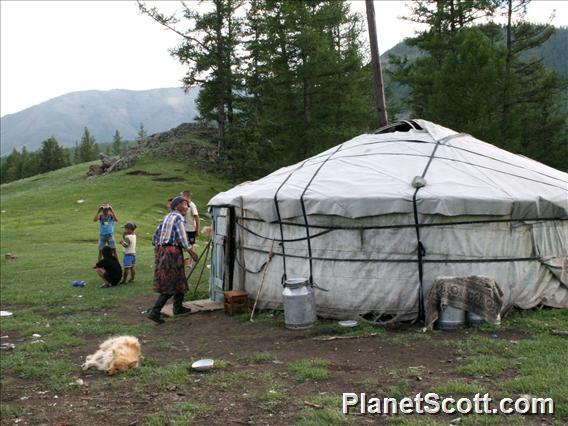 Western Tuva, Outside the Yurt