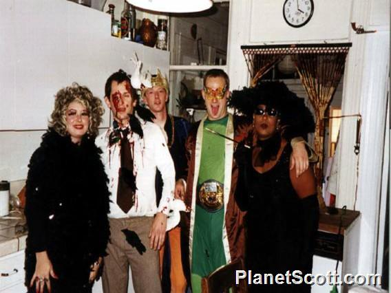 Barbara, Scott, Rob, Dave, and Debbie, Halloween 2000