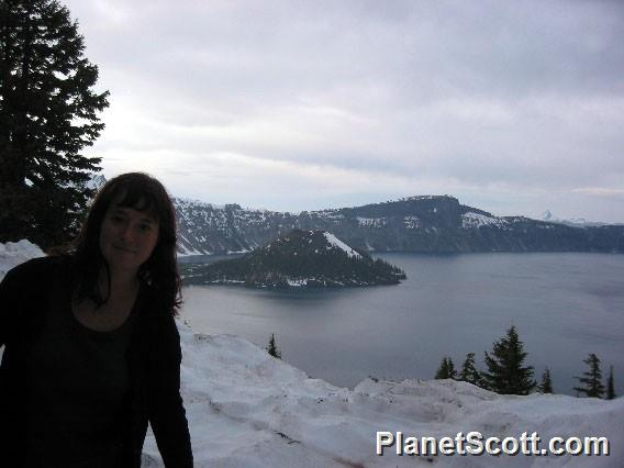 Barbara at Crater Lake