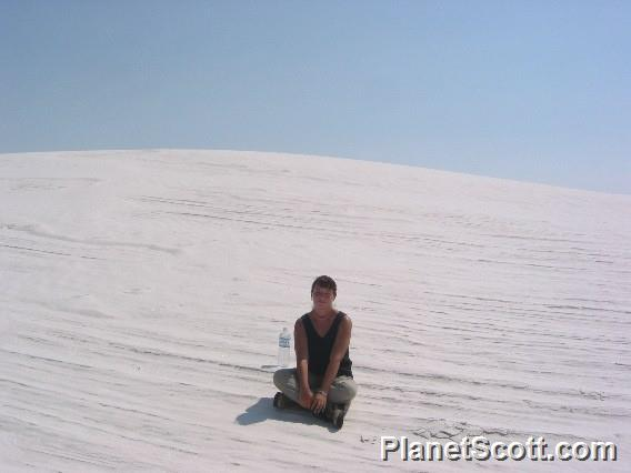 Barbara at White Sands National Monument